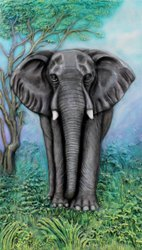 FRP Elephant Wall Mural