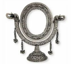 Silver Plated Table Mirror For Home Decoration & Corporate Gift