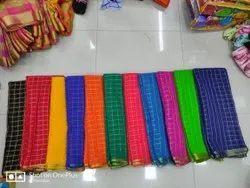 Various Color Casual Wear Embroidered Fancy Saree, Without Blouse Piece