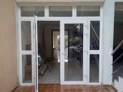 Toughened Glass UPVC Double Glazed Door, 7 Mm