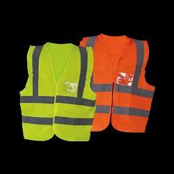 Polyester Net Unisex Reflective Jackets, For Construction, Size: Free Size