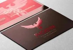 Paper Business Cards With Matt and Spot UV / Texture UV