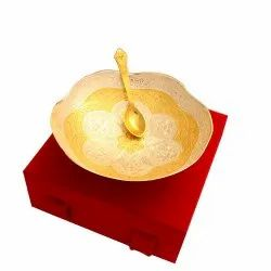Silver Gold Plated Fruit Bowl