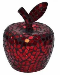 Red Decorative Glass Mosaic Apple, For Decoration