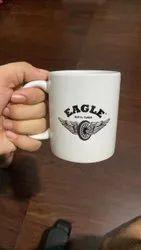 White Round Printed Mug, For Corporate Gifiting, Capacity: 350ml