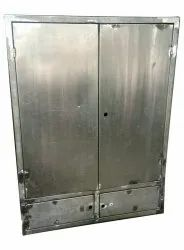 Silver Stainless Steel Wardrobe Cabinet, For Home