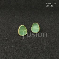 Fusion Arts Colour Glass Stone Stud Earrings