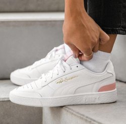 White Women Puma Shoes
