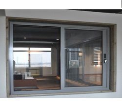 Modern Gray Aluminium French Sliding Window, For Residential, Size/Dimension: 6X5ft
