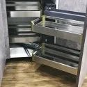 Slimline Stainless Steel Magic Corner Pullout Storage And Organizer Right Side