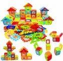 Plastic Kids Happy Family Building Block