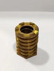 Hexagonal Threaded Brass Insert, For Pipe Fitting