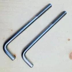 Round Galvanized L Type Bolt, For Construction