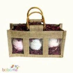 Assorted Plain window Jute Bags
