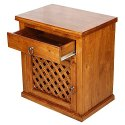 Wooden Bedside Table Teak Wood