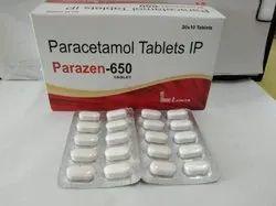 Blister Paracetamol Tablet IP 650mg, 20X10