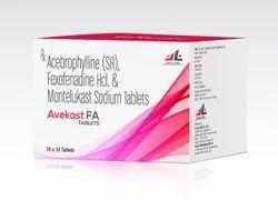 Acebrophyline 200 Mg + Montelukast Sodium 10 Mg. + Fexofenadine 120 Mg