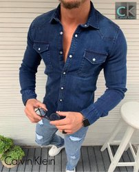 Calvin Klein Men Denim Shirts