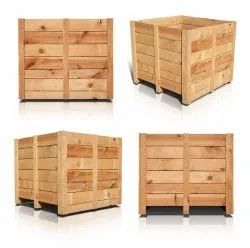 Brown Automobile Parts Wooden Packing Boxes Pallet