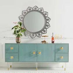 White Metal Mirror
