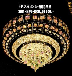 Incandescent Bulb Round Crystal Jhoomer