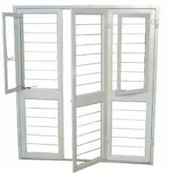 White Mild Steel French Door section in GI, For Home
