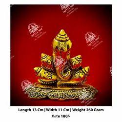 Metal Kala Ganesh God Statue