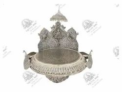 Chowki Temple Silver Plated Artifacts