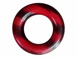 Red Round Polyester Shirt Button