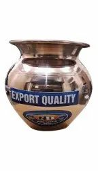 Round Export Quality Copper Lota, For Home, Capacity: 1 L