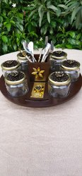 Revolving Dry Fruits Platter ( Salsa Jar)