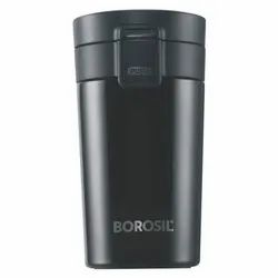 Borosil Stainless Steel Travel Mug 300 Ml Spill Proof Hot And Cold , Vacuum Insulated