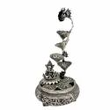 Metal Silver Plated Lotus Ganesh Fountain For Decoration