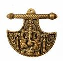 Gold Plated Metal Ganesh Wall Hanging For Home Decoration & Corporate Gift