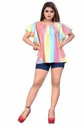 Crep Casual Wear Ladies Designer Tops