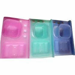 Iconic 3 In 1 Acrylic Bathroom Soap Stand