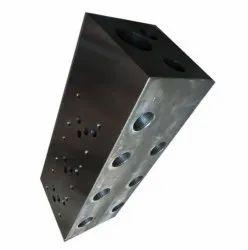 Powder Coated Mild Steel Hydraulic Manifold Block