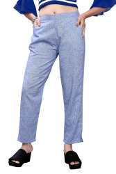 Jhala Impex Plain Summer Cotton Pants For Ladies, Waist Size: 34