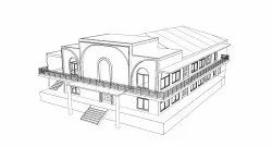 Commercial Prefab Church Building Construction Service, In Trichy