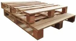 Rectangular Reman Two Way Wooden Pallet, For Shipping, Capacity: 2 Ton