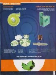 Fans, Fan Wheels, Shafts and Permanent Magnet Assembly