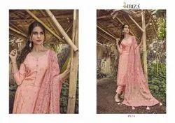 Ibiza Enara Pure Russian Silk Festive Wear Dress Material