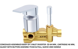Brass Forged Diverter 3 Inlet Assy