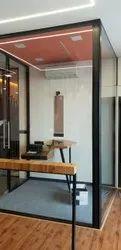 Transparent Frameless Glass Office Partition