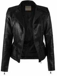 Classic Women's Short Coat Leather Jacket