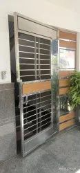Modern Stainless Steel Hinged Safety Gate, For Home