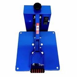 Flat Heat Press Machine Blue (15/15 Inches)