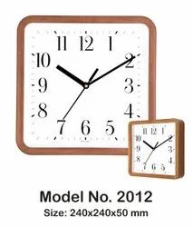 Brown Analog Promotional Wall Clock, Size: 240x240x50mm, Model Name/Number: 2012