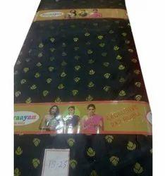 Jacquard 44inch Black Printed Rubia Fabric