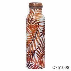 Flower Print Copper Bottle